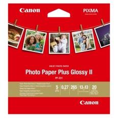 Фотохартия Canon Photo Paper Plus Glossy II PP-201, 5x5 инча, 20 листа