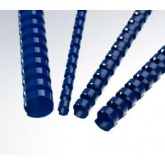 Renz Пластични гребени, US-стъпка, Ø= 10 mm, сини, кръгли, 21 ринга