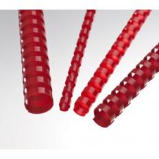 Renz Пластични гребени, US-стъпка, Ø= 10 mm, червени, кръгли, 21 ринга