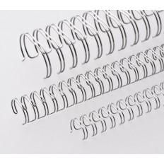 """Renz Метални гребени 2:1, 1/2"""", Ø=12,7 mm, NN-сребърни (брилянтни), 23 ринга"""