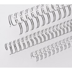 "Renz Метални гребени 2:1, 1/2"", Ø=12,7 mm, NC-сребърни (мат), 23 ринга"