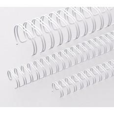 """Renz метални гребени за подвързване, 2:1, 1/4"""", Ø= 6,9 mm, бели, 23 ринга"""